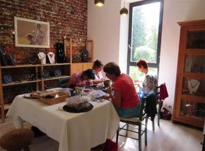 photo de l'atelier de Sylvie François