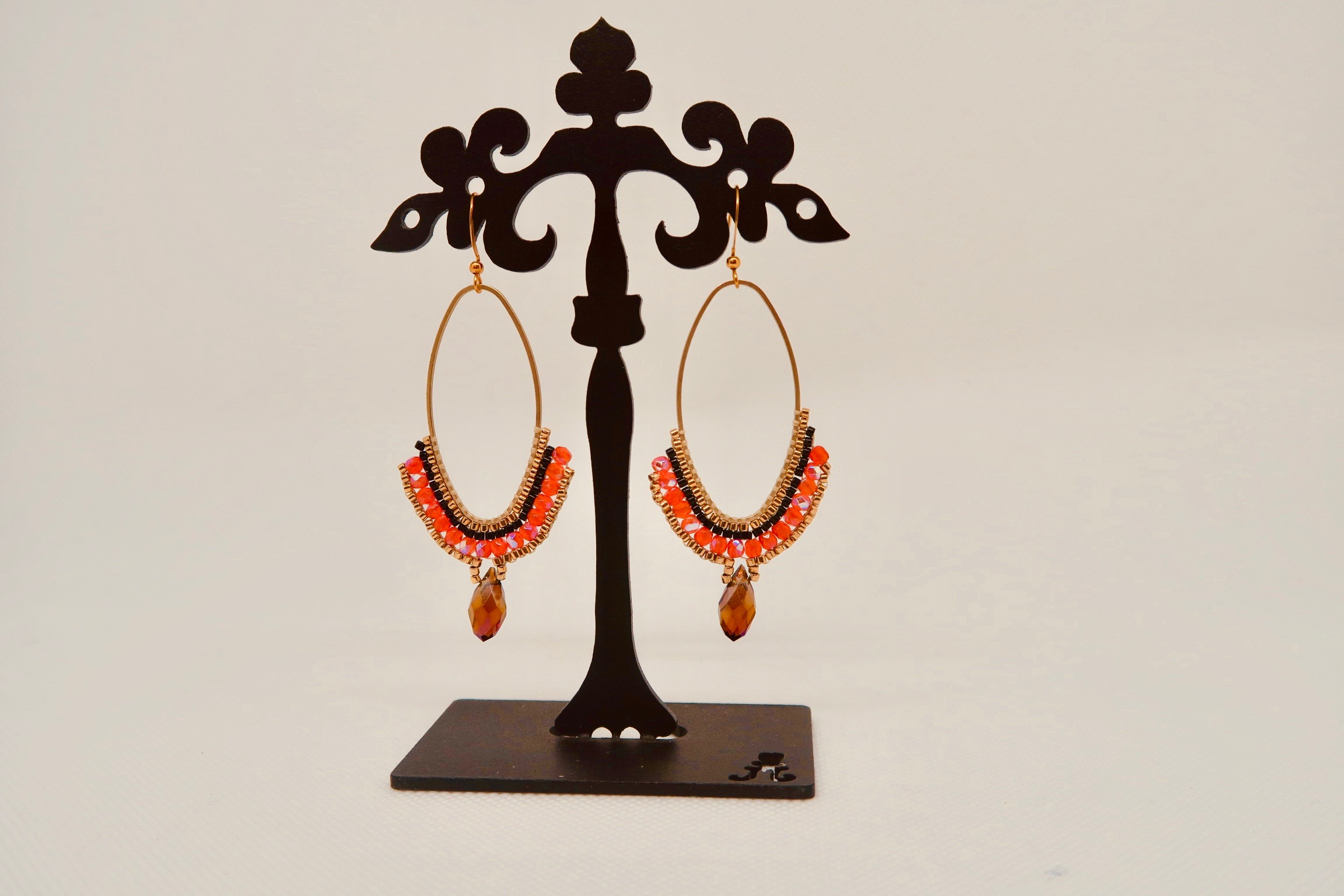 photo de boucles d'oreilles