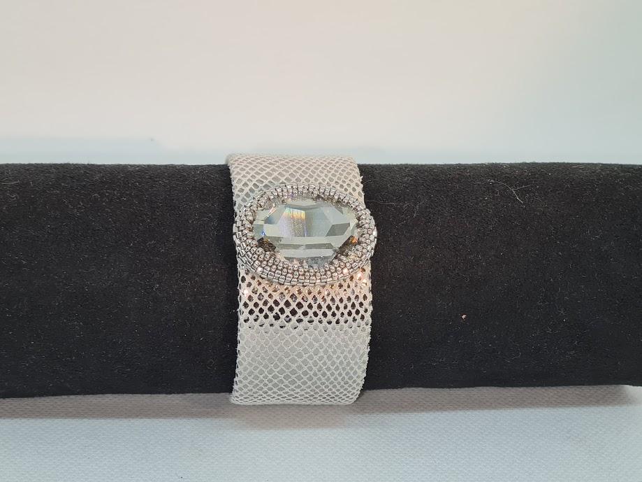 Bracelet manchette silver shade